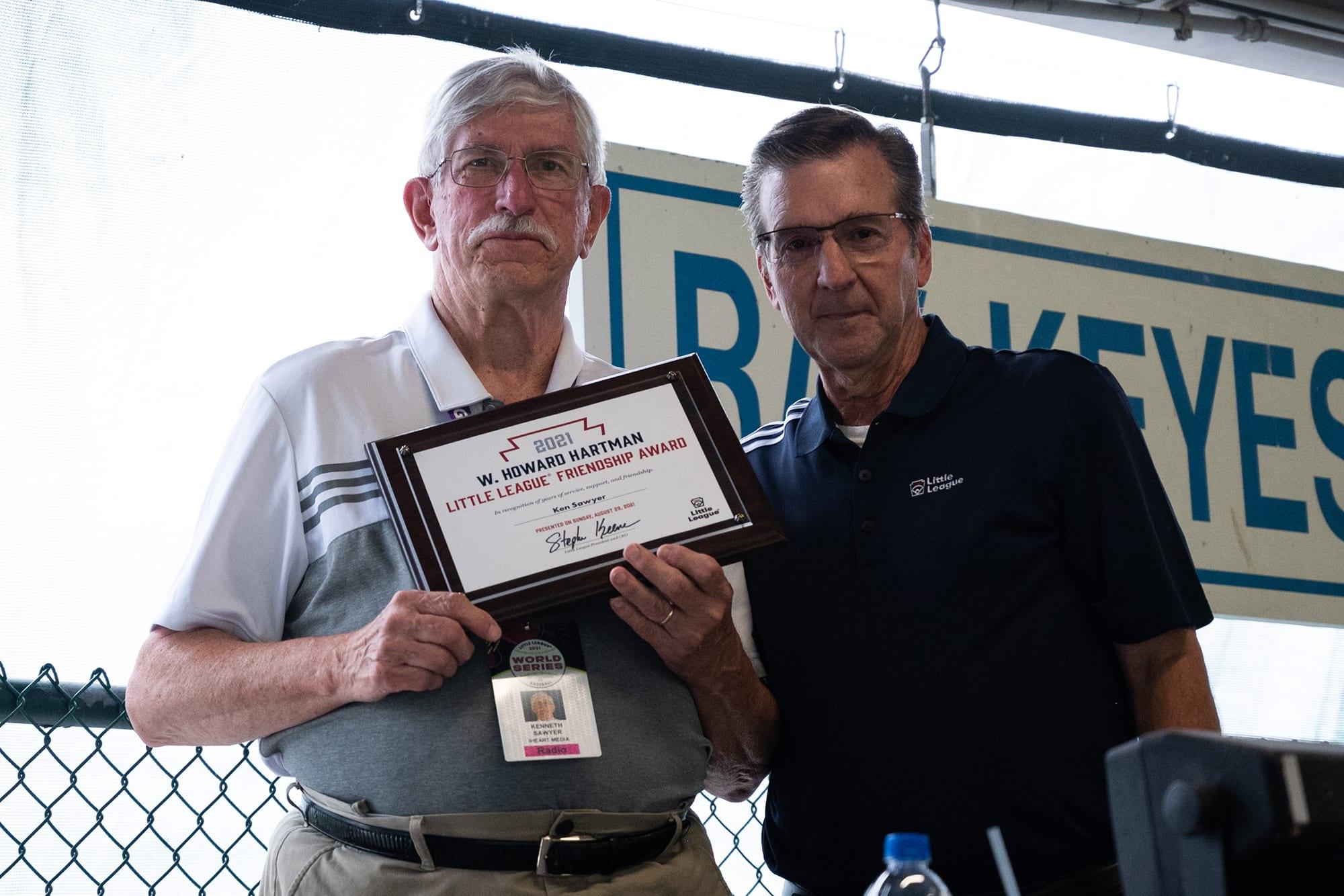 Ken Sawyer Howard Hartman Award
